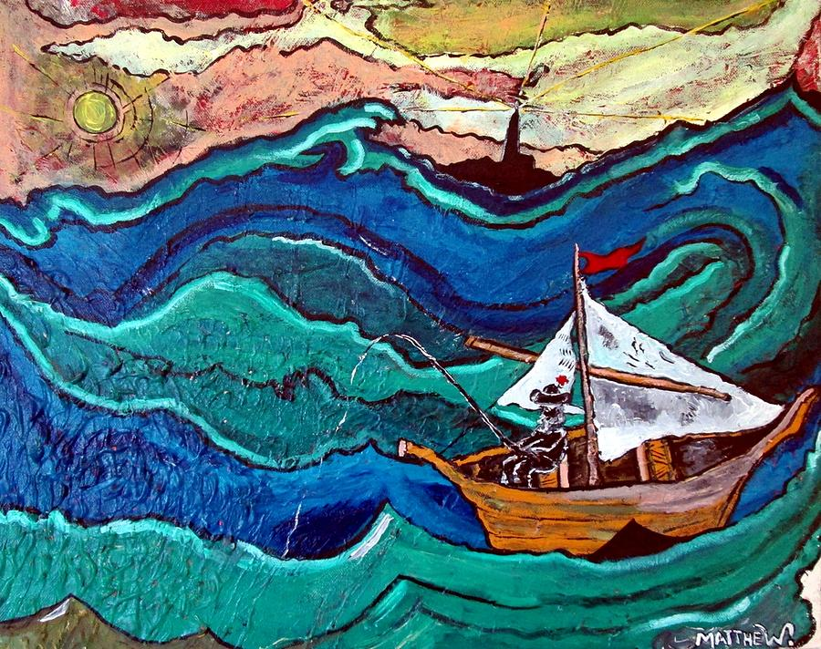 Boat Painting - Deep Thought by Matthew  James