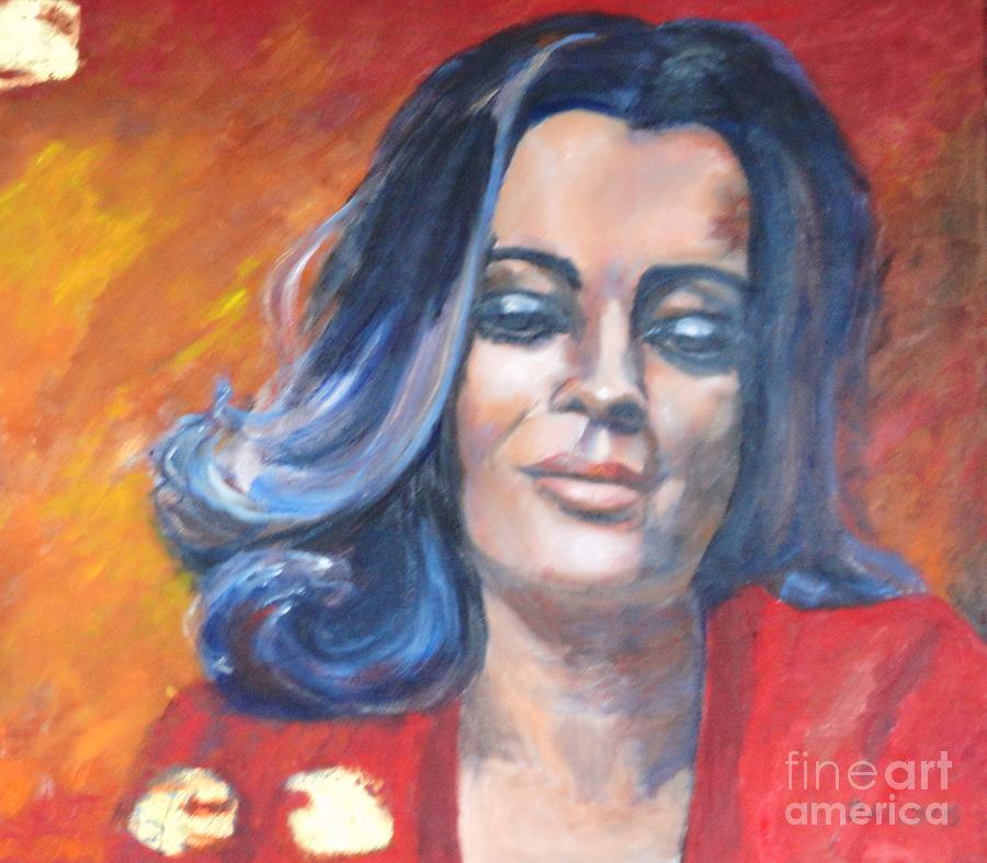 Portrait Painting - Deep Thoughts  In Gedanken by Dagmar Helbig
