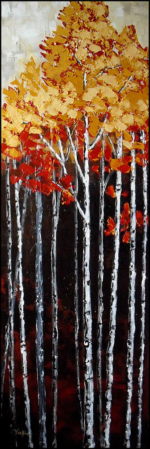 Trees Painting - Deep Tranquility by Vickie Warner