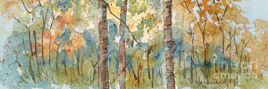 Impressionism Painting - Deep Woods Waskesiu Horizontal by Pat Katz