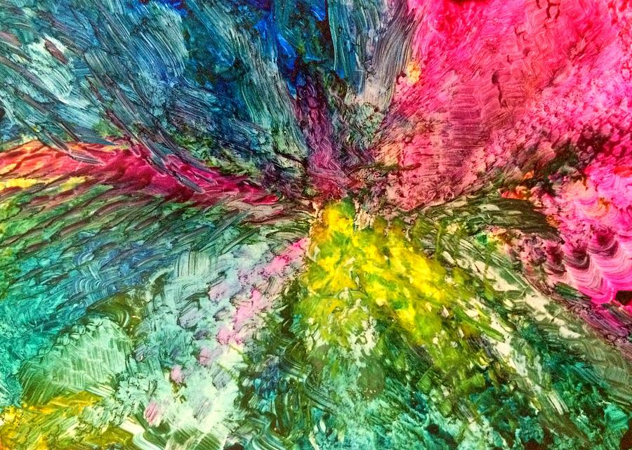 Encaustic Painting - Deeply by Christine Johanns