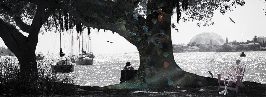 Skeleton Digital Art - Deeply Rooted by Betsy Knapp