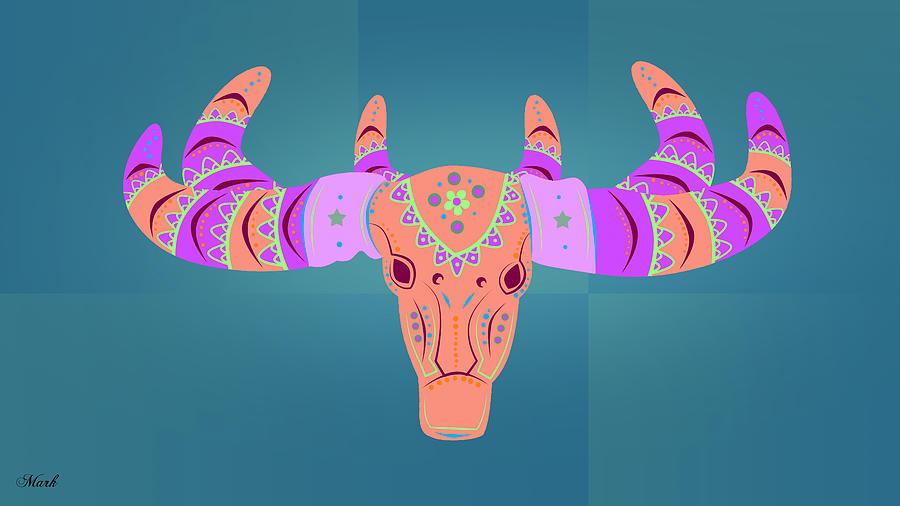 Deer Digital Art - Deer 3 by Mark Ashkenazi