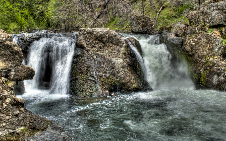 Water Photograph - Deer Creek Falls by Ren Alber