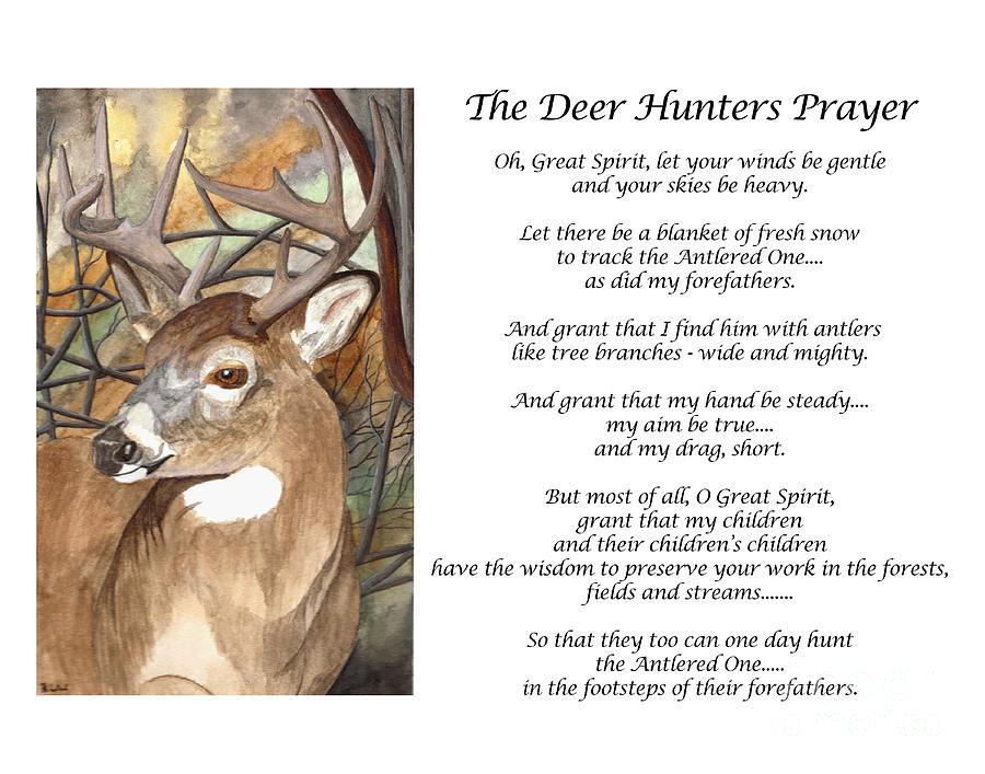 Deer Hunters Prayer Painting By Ronald Wilkie
