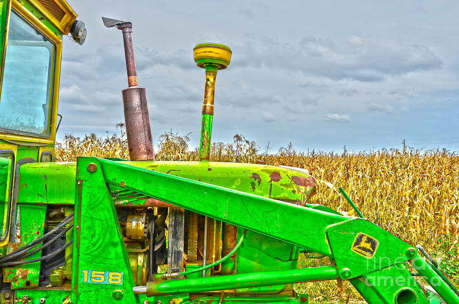 Tractor Photograph - Deere 158 by Baywest Imaging