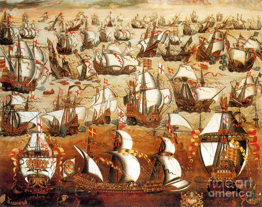 History Photograph - Defeat Of The Spanish Armada 1588 by Photo Researchers