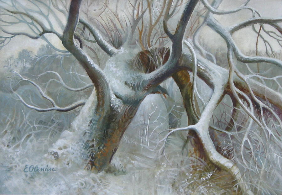 Tree Painting - Defeated by Elena Oleniuc