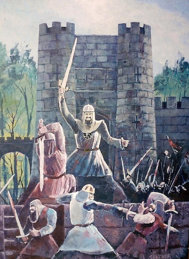 Knights Painting - Defend by Robert Sankner