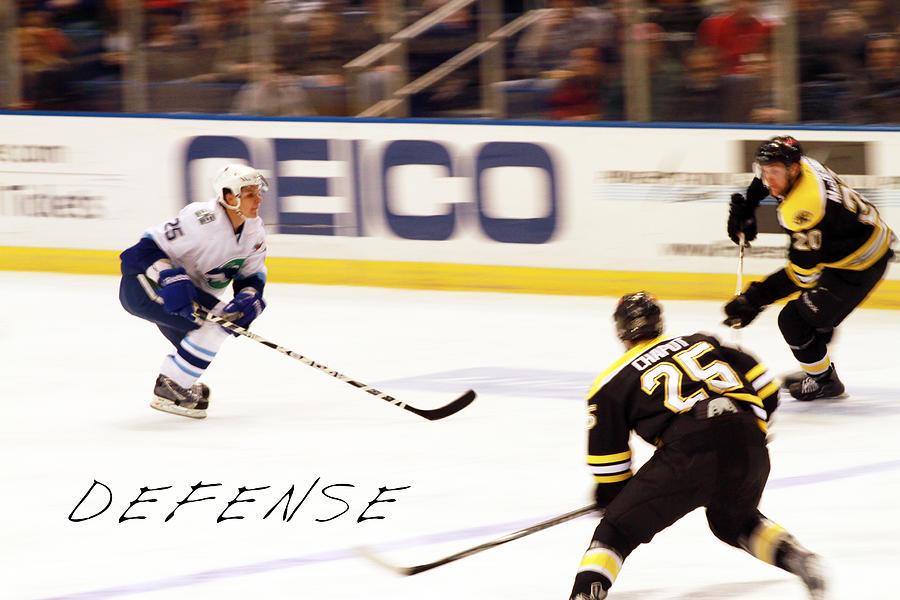Ice Hockey Photograph - Defense by Karol Livote