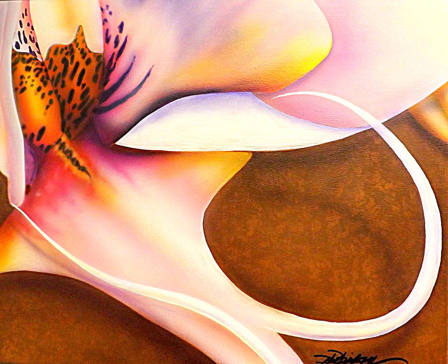 Orchid Painting - Defined Fine Lines by Darren Robinson