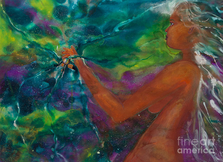 Female Painting - Defining Her Essence by Ilisa Millermoon