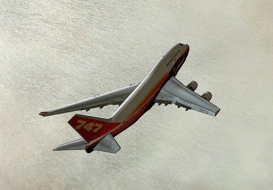 Airplane Digital Art - Definition - Boeing 747 by Marcello Cicchini