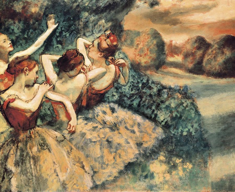 Horizontal Photograph - Degas, Edgar 1834-1917. Four Dancers by Everett