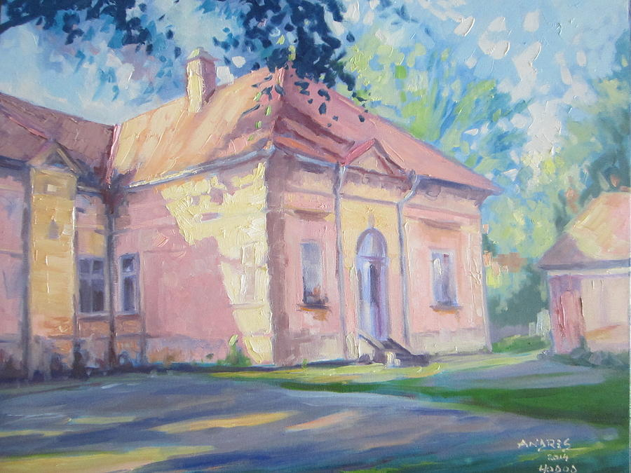 Transilvania Painting - Degenfeld Castle by Andrei Attila Mezei