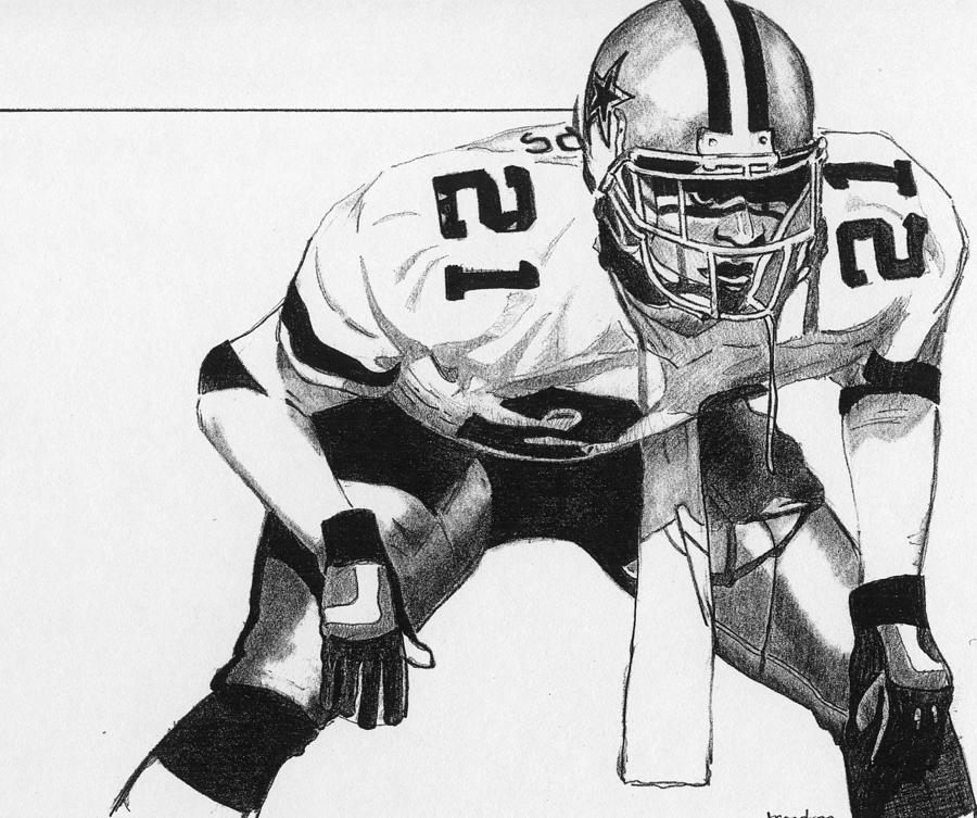 Deion Sanders Drawing by Brian Condron