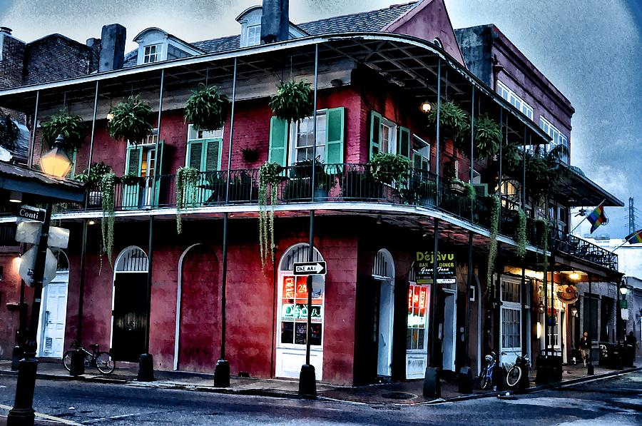 Deja Vu - Bourbon Street Photograph - Deja Vu - Bourbon Street by Bill Cannon