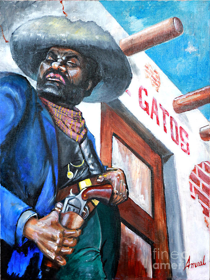 Bad Guy Painting - Del Gatos Place by George Ameal Wilson