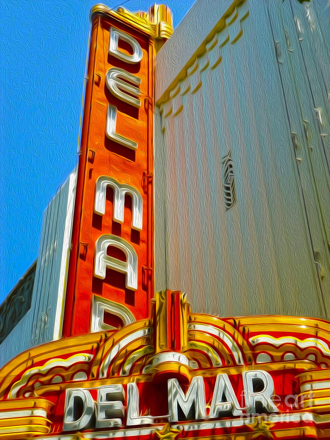 Santa Cruz California Painting - Del Mar Theater - Santa Cruz - 02 by Gregory Dyer