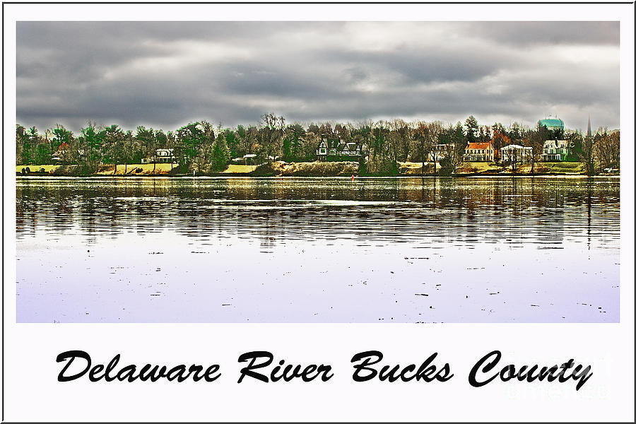 Delaware River Photograph - Delaware River Bucks County by Tom Gari Gallery-Three-Photography