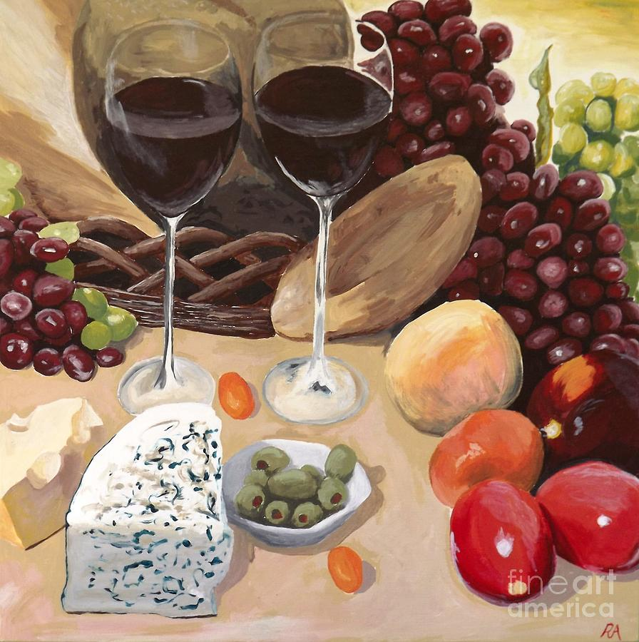 Wine Painting - Delectible by Robyn Allison