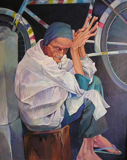Figurative Painting - Delhi by Julie Orsini Shakher