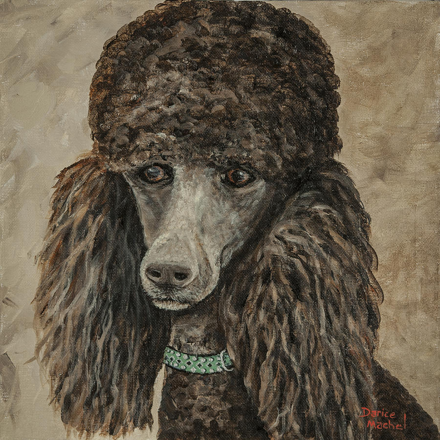 Pet Portrait Painting - Delia by Darice Machel McGuire