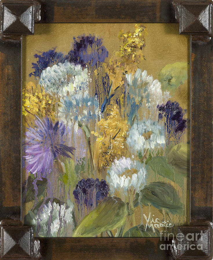 Delicate Aroma I with Gold Leaf by Vic Mastis by Vic  Mastis