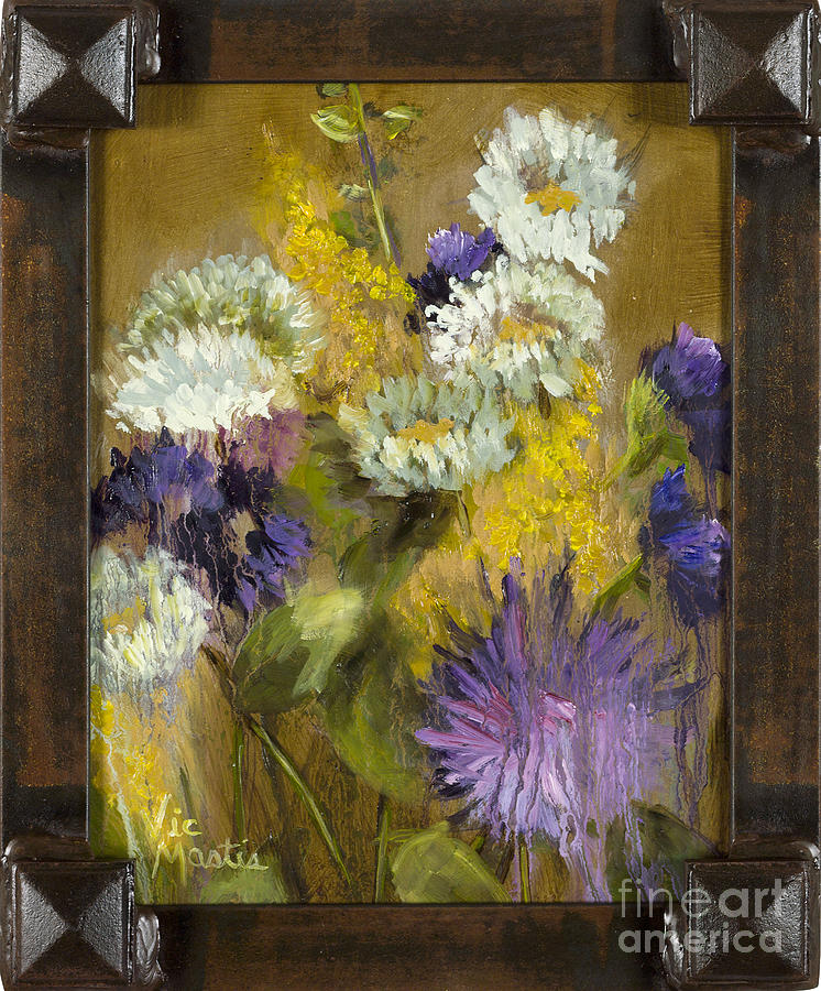 Delicate Aroma II with Gold Leaf by Vic Mastis by Vic  Mastis