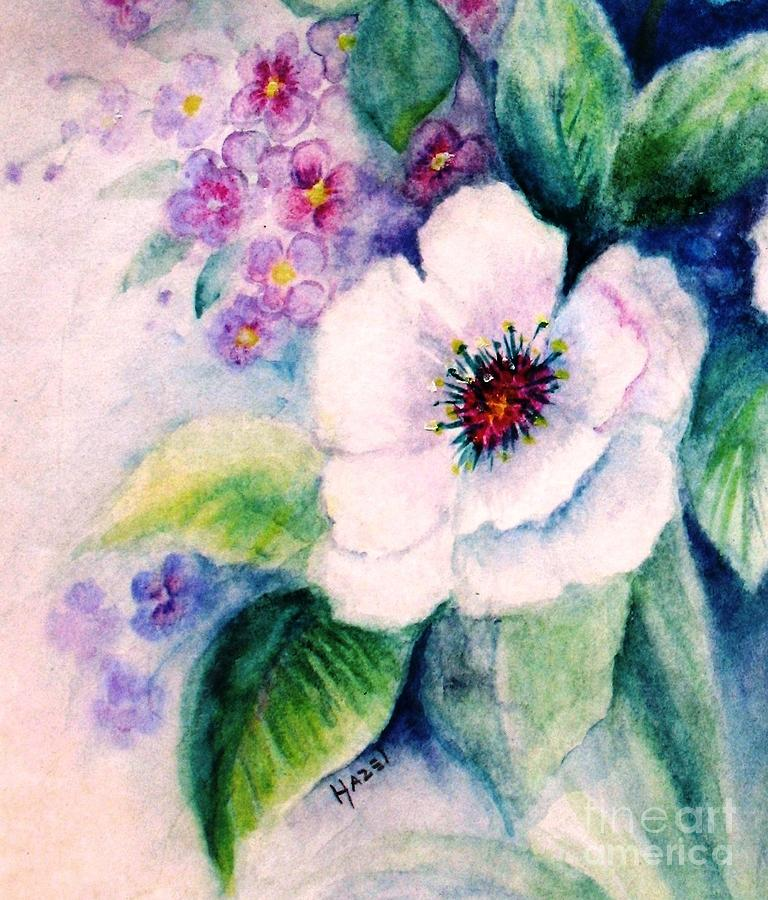 Flowers Painting - Delicate Beauty by Hazel Holland