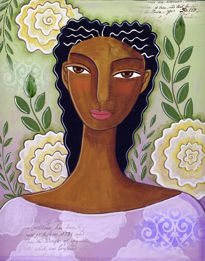 African American Mixed Media - Delicate by Elaine Jackson
