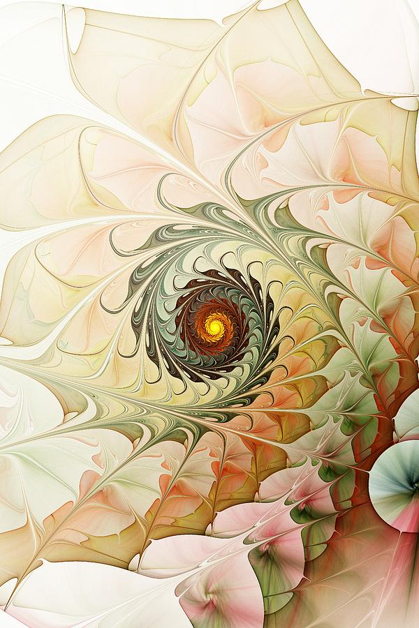 Computer Digital Art - Delicate Wave by Anastasiya Malakhova