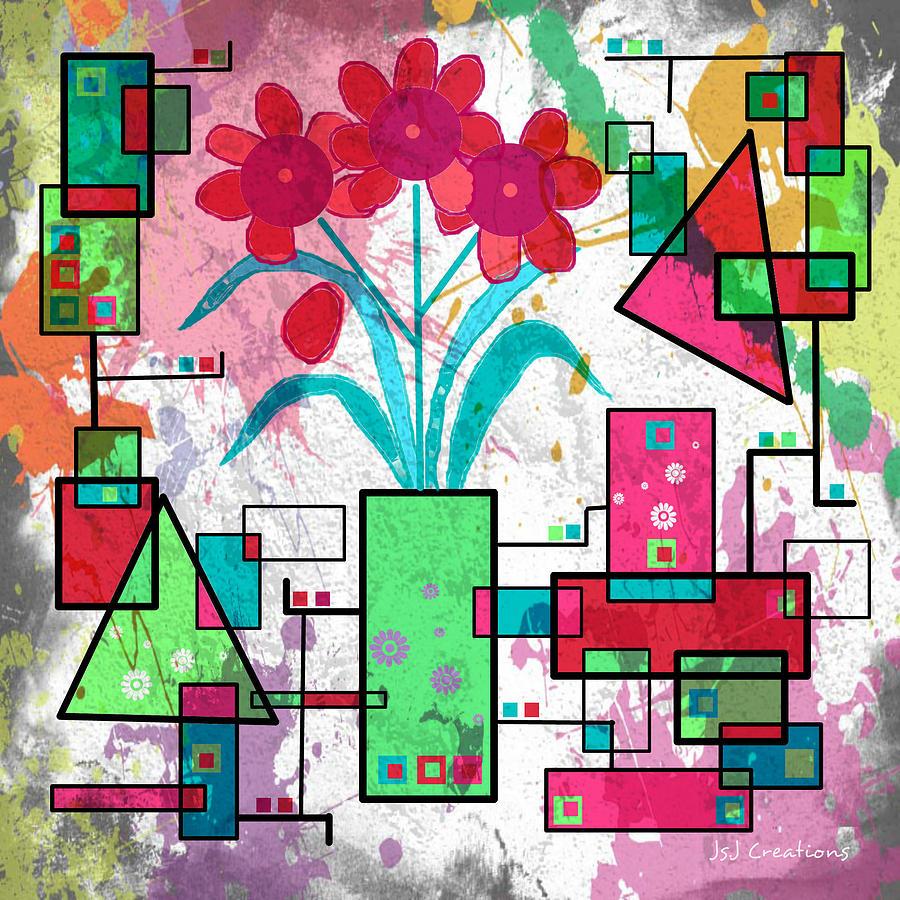 Digital Digital Art - Delicately Floral by Jan Steadman-Jackson