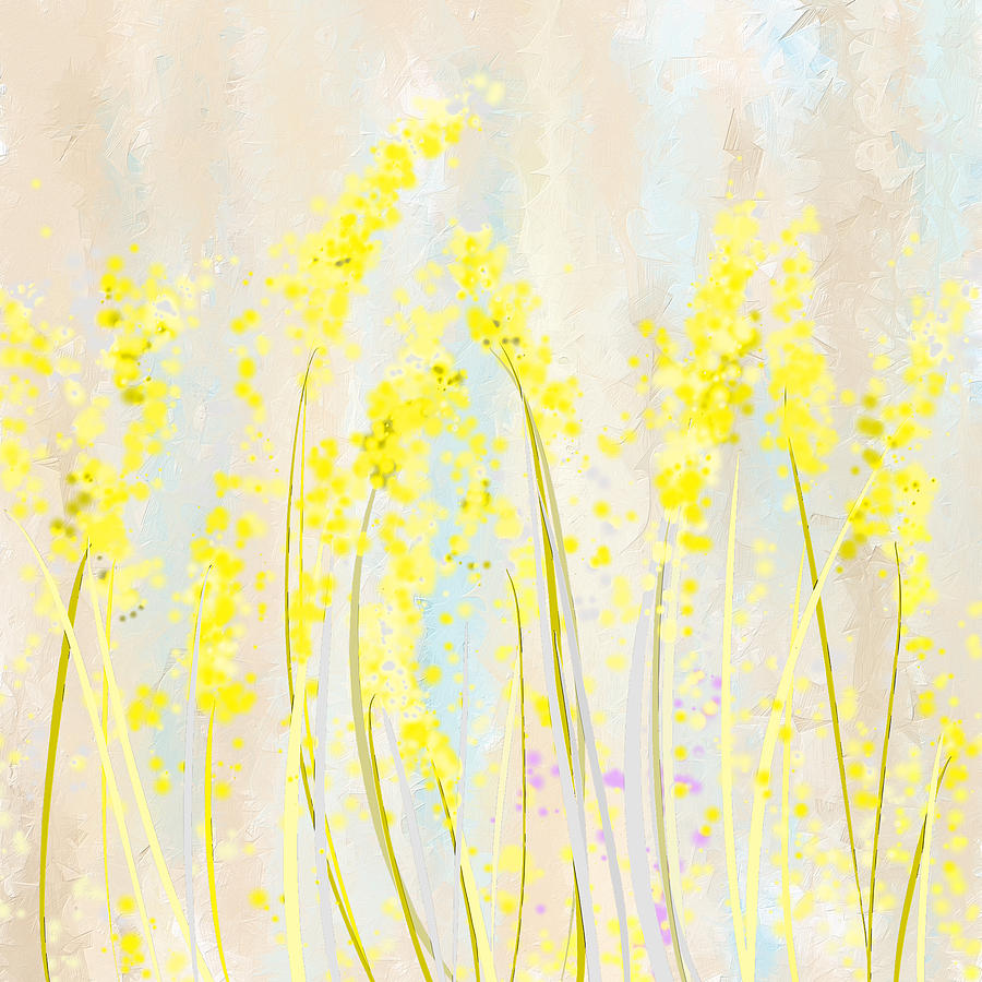 Yellow Painting - Delicately Soft- Yellow And Cream Art by Lourry Legarde