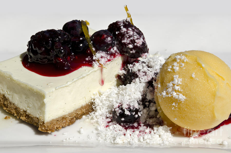 Cheese Cake Photograph - Delicious Dessert by Sheldon Kralstein