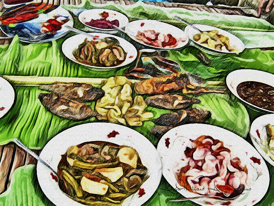 Grilled Fish Painting - Deliciously Fresh by Withintensity  Touch
