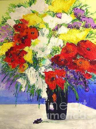 Landscape Painting - Delightful by Allan P Friedlander
