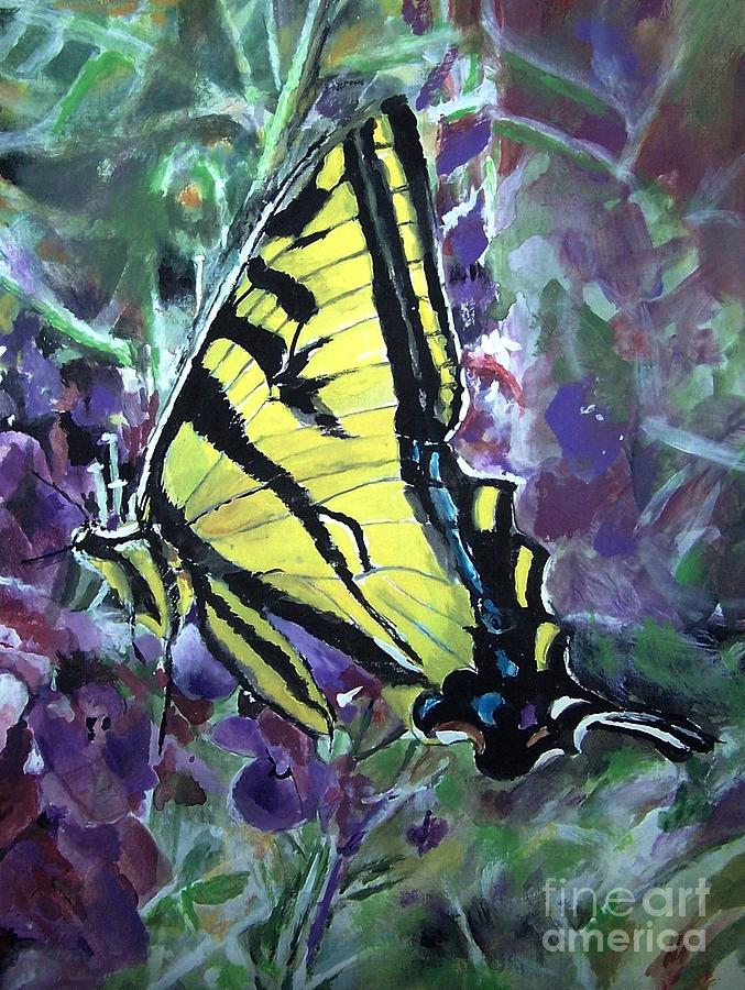 Butterfly Painting - Delightful by Laneea Tolley