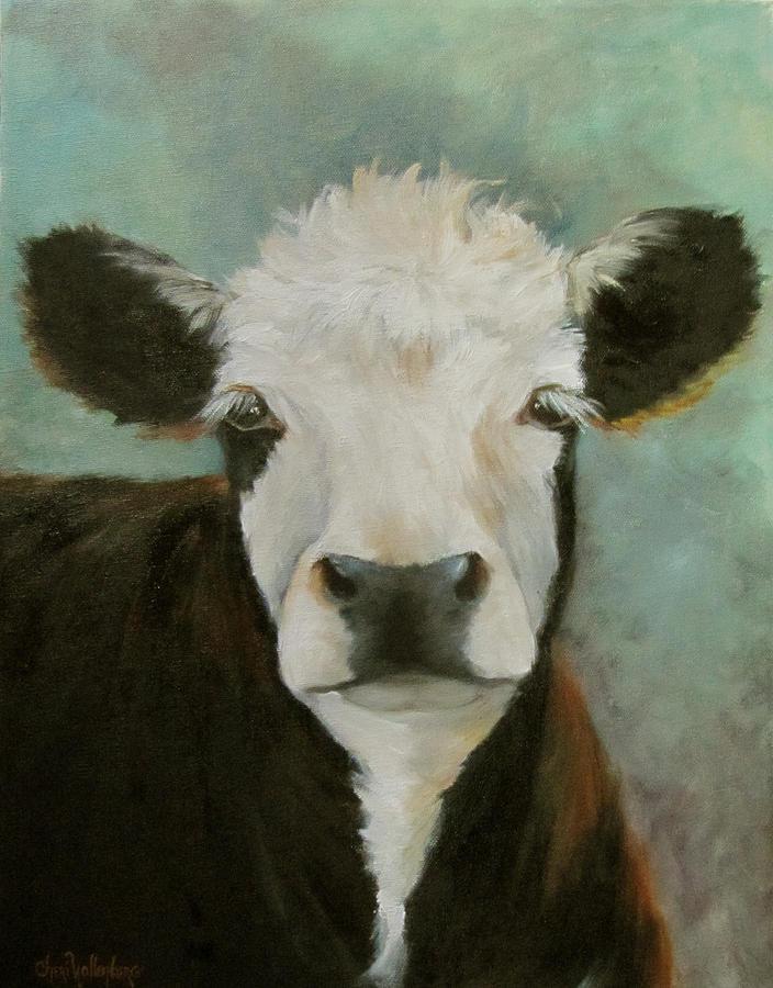 Cow Portrait Painting - Delilah by Cheri Wollenberg