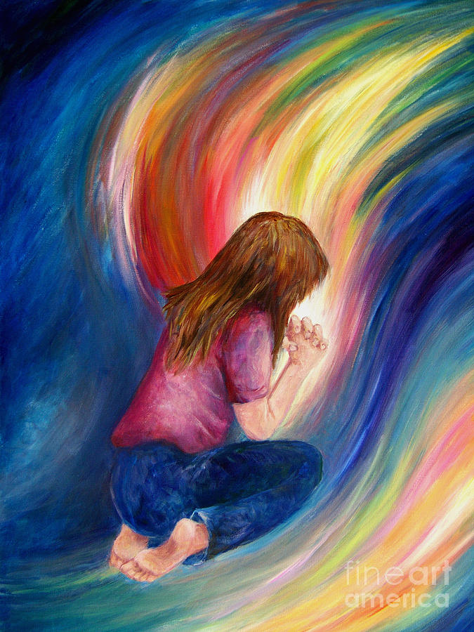 The Power Of Prayer Painting - Deliverance by Deborah Smith