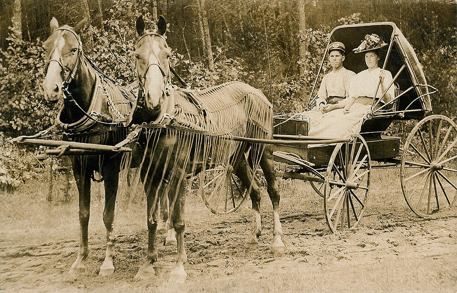 Horse Photograph - Delivering The Mail 1907 by Floyd Russell