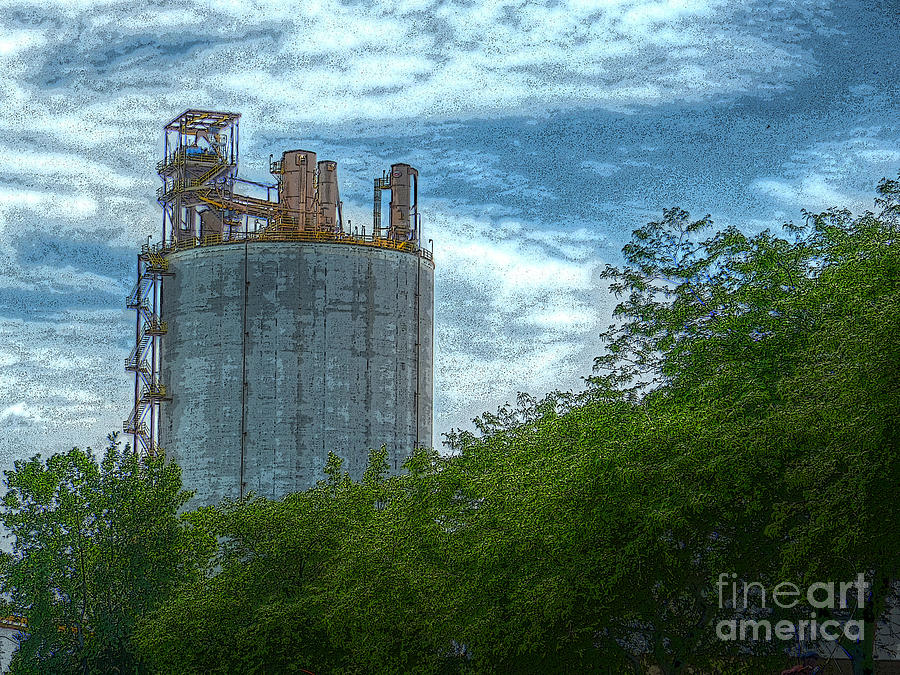 Michigan Photograph - Delray Tower by MJ Olsen