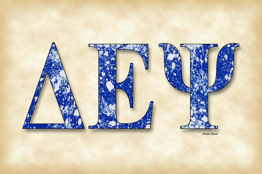 Delta Epsilon Psi Digital Art - Delta Epsilon Psi - Parchment by Stephen Younts
