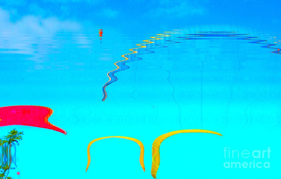 Hang-glider - Deltaplane - Island Reunion-indian Ocean Photograph by Francoise Leandre