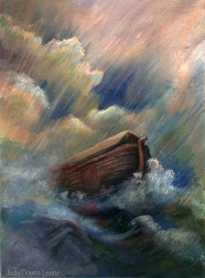 Ark Painting - Deluge by Judy Downs