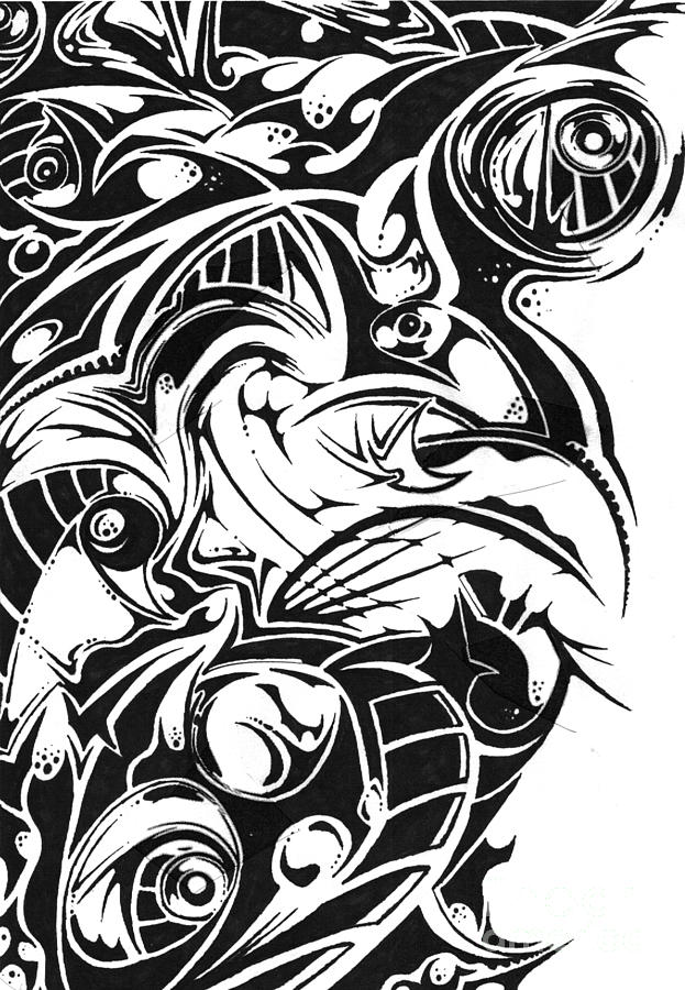 Sharpie Drawing - Delusion by Kyle Walker