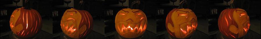 Pumpkin Sculpture - Demented Mister Ullman Pumpkin 2 by Shawn Dall
