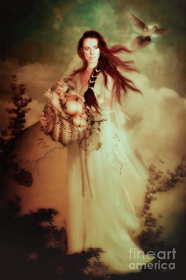 Demeter Digital Art By Shanina Conway