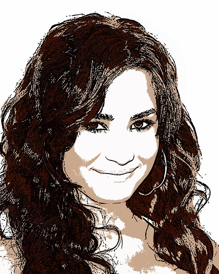 Demi Lovato Digital Art - Demi Lovato 2 by John Novis