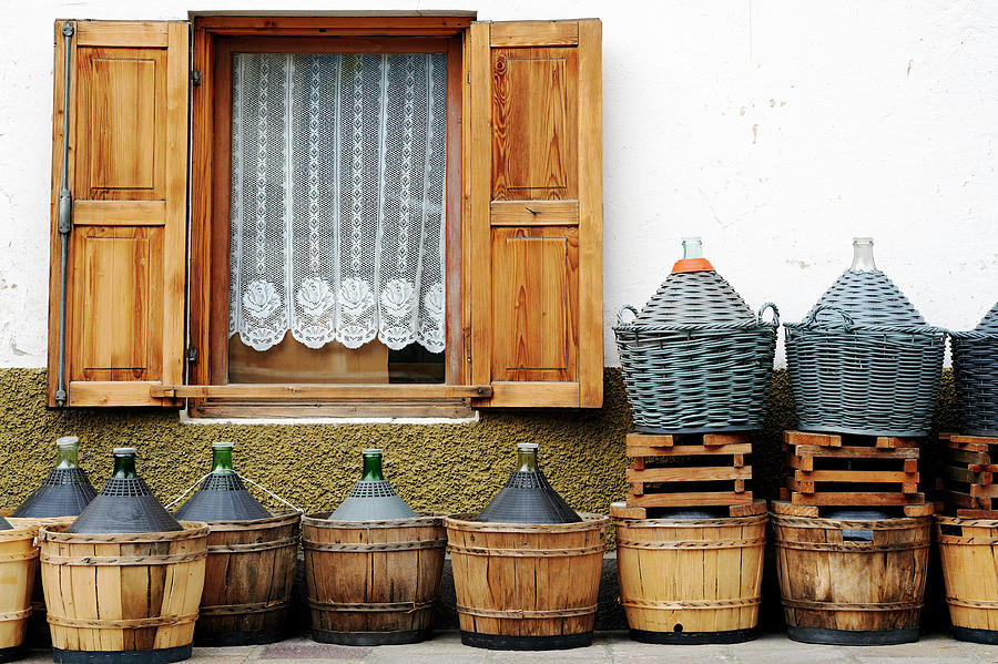 Demijohns. Color Image Photograph by Claudio.arnese